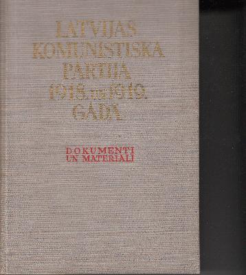 Latvijas Komunistiskā partija 1918. un 1919. gadā